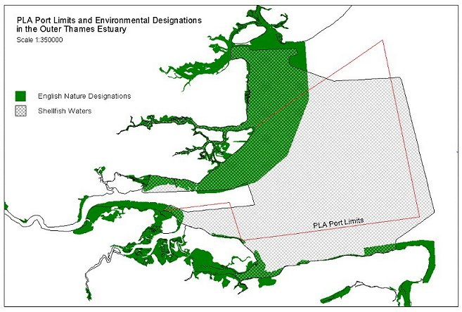PLA Port limits and environmental designations