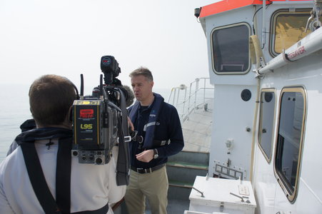 PLA Deputy Port Hydrographer John Dillon-Leetch tells the BBC what is happening