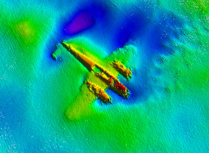 Sonar scan of the aircraft