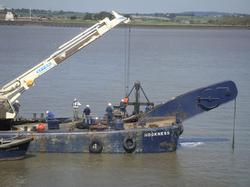 Salvage operations in the Thames