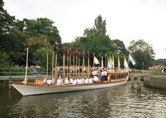 Olympic Torch on the Thames