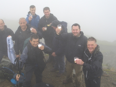 Celebrations before the final descent