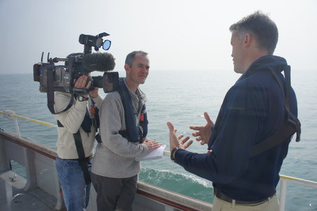 Peter Machin of the BBC interviews John Dillon-Leetch